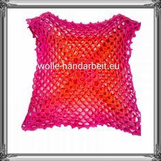 Mädchen Sommer Bluse Flora  Mit Liebe gehäkelt aus 100% Baumwolle garn..Eine Seite des Quadraten hat ca 32 cm. Flora, The Last Song, Threading, Blouses, Handarbeit, Love, Cotton