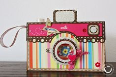 SMiLE!!! Camera Shaped Box by bbscraps - Cards and Paper Crafts at Splitcoaststampers