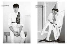 Assilah (Hercules Magazine) ss15 Daniel Riera - Photographer Francesco Sourigues - Fashion Editor/Stylist Nabil Harlow - Hair Stylist Alessio Pozzi - Model Arran Sly - Model