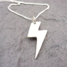 Lightning bolt pendant sterling silver by lolaandcash on etsy sterling silver lightning bolt pendant 3300 via etsy mozeypictures Choice Image