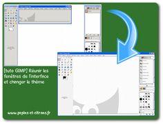 [tuto GIMP 2.8] Réunir les fenêtres de l'interface et changer le thème GIMP - pépins et citrons Tuto Gimp, School Computers, Les Themes, Bar Chart, Culture, Photos, Photography, Computer Science, Technology