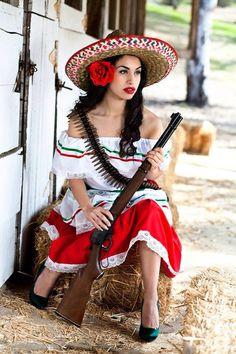 Revolutionary Mexican female costume