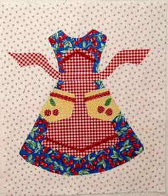 Apron quilt block pattern by Lori Holt