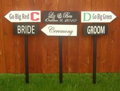 Out-standing! Directional Signs, High School Sweethearts, Grad Parties, Stuff To Do, Back To School, Graduation, Groom, Bride, Party Ideas