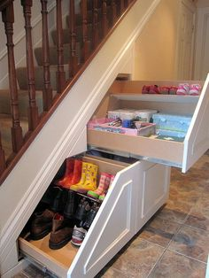 Woodworking Furniture Pocket Hole Inspiration Perfect Under Stairs Storage Ideas For Small Homes.Woodworking Furniture Pocket Hole Inspiration Perfect Under Stairs Storage Ideas For Small Homes Staircase Storage, Stair Storage, Hidden Storage, Shoe Storage, Pantry Storage, Staircase Design, Extra Storage, Storage Drawers, Woodworking Furniture