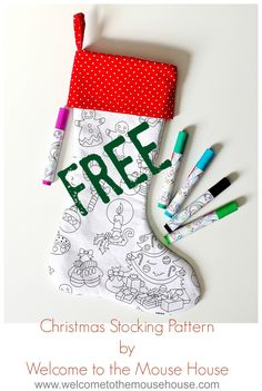 Color Me Stocking Free Pattern Photo 1