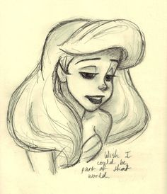 """Wish I could be, part of your world."" God I love this movie. Ariel (c) Glen Keane & Disney"