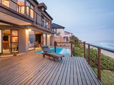 Azure Wilderness - A luxury villa located near the end of a peaceful road, part of the sought-after and secure Wilderness Garden Estate in Wilderness.Azure Wilderness is split into three levels consisting of three bedrooms ... #weekendgetaways #wilderness #gardenroute #southafrica #travel #selfcatering