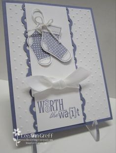 What a great idea for use of Stampin' Up!'s stocking builder punch!