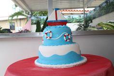 Cake sencillo de motivo de mar.