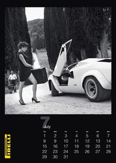 Unlike most recent Pirelli Calendars, Newton actually included Pirelli's product in his photos.