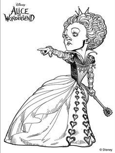 Alice Wonderland Tim Burton Coloring Pages
