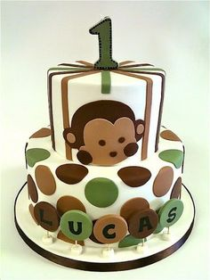 2-Tier Pop Monkey Birthday Cake#Repin By:Pinterest++ for iPad#