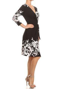 Black & White Wrap Dress   Shop Women's Dresses.