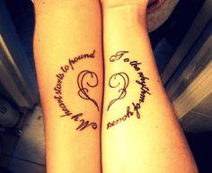matching tattoos - 70+ Lovely Matching Tattoos | Art and Design
