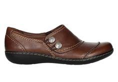 Zapato de color marron 2 botones pespuntes