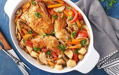 Pečené kuře na pivu a zelenině
