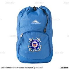 United States Coast Guard Backpack; $37.95 --  #stanrail - High Sierra Backpack Eliminate the bulk with this beautiful and simple backpack. The High Sierra Synch Backpack has a large, top-loading main compartment making it easy to toss all your gear inside, while the easy drawstring closure helps keep your bulky items secure.  The easy-to-access front pocket provides storage to all the small essentials. @stanrails_store