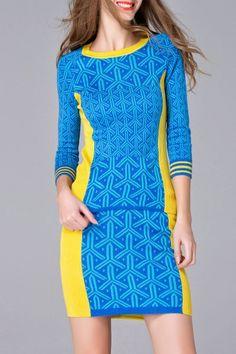 Jacquard Knitwear and Knitting Bodycon Skirt