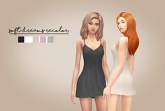 Today is a big day, because I'm coming with something different than just a Sim. I'm really hyped to show you guys my first recolor ever! I decided to recolor this lovely sleepwear, originally made by an awesome creator - Kiara Zurk, who obviously...
