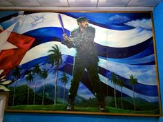 Not even Cubans believe it, but it has long been a rumor that Fidel Castro was a great baseball prospect before he became a revolutionary. To this day, his vaunted prowess on the diamond is celebrated, as in this mural inside Havana's stadium (but it's probably completely propaganda). The Cuban team, however, is awesome.