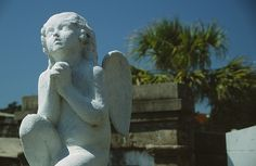 Cherub Statue, St. Louis Cemetery  New Orleans, Louisiana