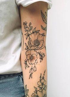 Beautiful Sunflower Tattoos for Women tattoo designs 2019 - Tattoo designs - Dessins de tatouage Pretty Tattoos, Cute Tattoos, Beautiful Tattoos, Body Art Tattoos, New Tattoos, Tatoos, Nature Tattoos, Danty Tattoos, Incredible Tattoos