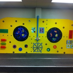 yellow submarine inside Underwater Birthday, Underwater Theme, Jungle Decorations, School Decorations, Vbs 2016, 2017 Vbs, Submerged Vbs, Under The Sea Theme, Vacation Bible School