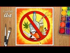 Hi friends, In this video drawing tutorial I will show you how to draw a very easy but simple drawing of no smoking poster. Art Drawings For Kids, Easy Drawings, Drug Free Posters, Save Water Poster Drawing, Social Awareness Posters, Smoke Drawing, Drugs Art, Poster Color Painting, Art