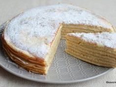Tort de clatite imperiale din albusuri – Magnas Palacsinta Torta Dessert Recipes, Desserts, Camembert Cheese, Nom Nom, Cheesecake, Food And Drink, Sweets, Kitchens, Tailgate Desserts