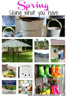 Are you tired on winter?  Here are 10 DIY projects to ring in spring.  All while using what you have on hand.  #upcycle #reuse #diy