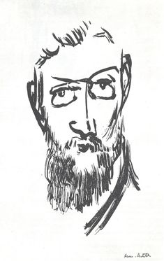 Self Portrait, Ink on Paper, 1900 - Henri Matisse
