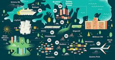 Monocle - Sydney Map  Illustrated map of Sydney, Australia for the latest issue of Monocle.  AD - James Melaugh