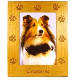 Dog Paws Picture Frame by gclasergraphics on Etsy, $24.99