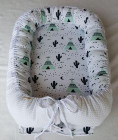 Nestchen - Babynest Teepee Kimsa Waffelpique weiß - ein Designerstück von lille_pernille bei DaWanda