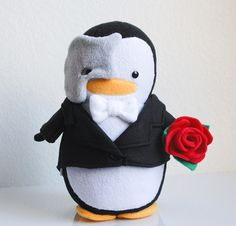 Phantom of the Opera Penguin Plush Doll
