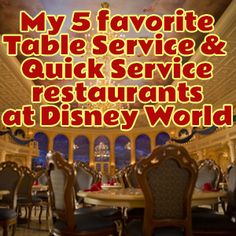 My favorite restaurants at Disney World