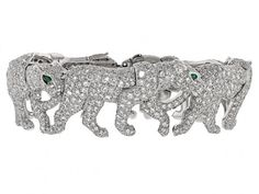 Cartier Diamond Walking Panther Bracelet in 18K – Photo courtesy of Beladora