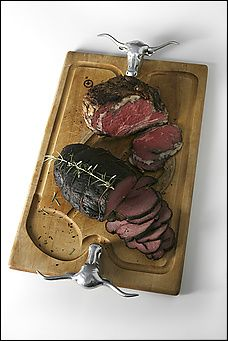 Slow-roasted Prime Rib Roast of Beef (top) and Boneless Beef Shoulder Roast (bottom). Slow Roasted Prime Rib, Prime Rib Roast, Roast Beef, Beef Recipes, Cooking Recipes, Cooking Fish, Slow Cooking, Cooking Beets, Kitchens