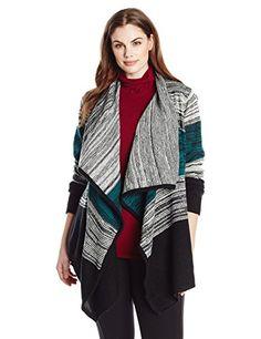 BB+Dakota+Women's+Plus-Size+Giada+Marled+Acrylic+Stripe+Sweater,+Multi,+1X