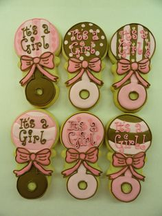 baby rattle cookies! | Flickr - Photo Sharing!