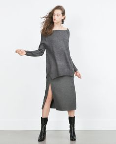 Image 1 of SWEATER WITH VISIBLE SEAMS from Zara
