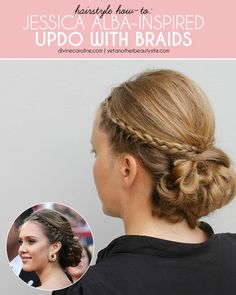 Hair How-To: Jessica Alba–Inspired Updo