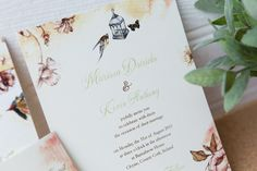 Lovely wedding invitation, with sweet and free birds and butterflies fly in a summer background Unique Wedding Invitations, Wedding Stationery, County Cork Ireland, Butterflies Flying, Summer Backgrounds, Rsvp, Brides, Wedding Inspiration, Sweet