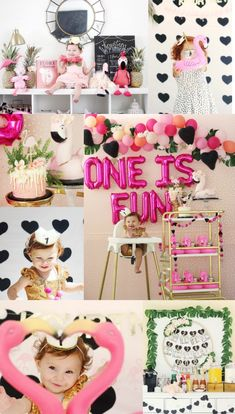 """Let's flamingle"" first birthday full of easy DIY's"