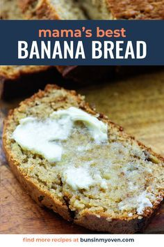 Super Moist Banana Bread, Easy Banana Bread, Quick Bread Recipes, Banana Bread Recipes, Wine Recipes, Cooking Recipes, Fall Recipes, Clean Eating Grocery List, Classic Recipe