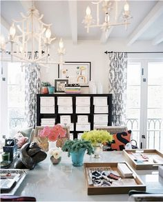 work space with lots of light!  Love this!! (I want to live here!)