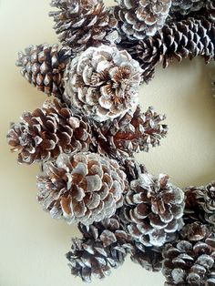 Glitter pine cones! I love sparkly pine cones! Do some in red, green, silver, and gold!  Beautiful!