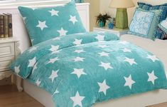 Oblieček Mikrovlákno a Mikroflanel Stars mentol, i-matrace. Comforters, Blanket, Stars, Bed, Furniture, Home Decor, Creature Comforts, Quilts, Decoration Home