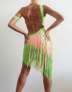 América Latina baile rumba vestido samba cha por CrinolinAtelier